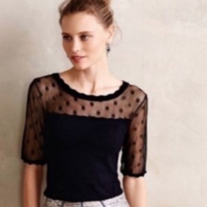 Anthropologie | Knitted and Knotted navy sweater
